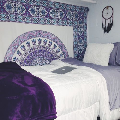 Boho Style Dorm Purple Bohemian BedroomBedroom Ideas
