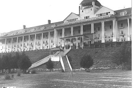 Grand Hotel Mackinac Island C 1920 S Grand Hotel Mackinac Island Mackinac Island Michigan Mackinac Island