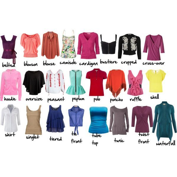 Types Of Tops Clothing I Would Wear Pinterest Fashion Vocabulary English Fashion And Clothing