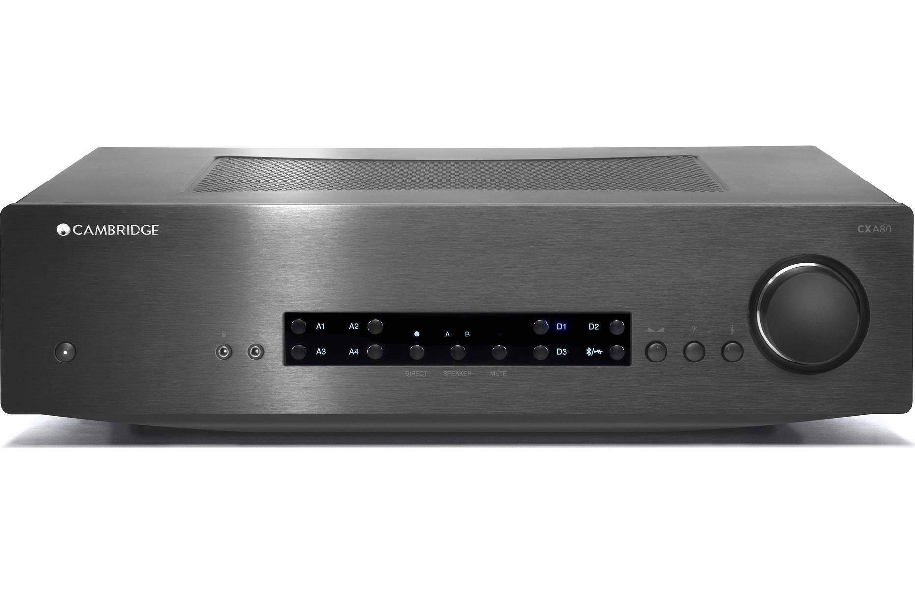 Cambridge audio cxa80 stereo integrated amplifier with built in dac and usb input