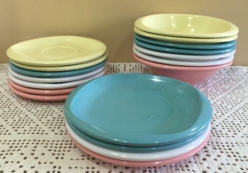 Vintage Boontonware Belle Pastel Melmac Melamine Dinnerware-bowls Plates Saucers & Vintage Boontonware Belle Pastel Melmac Melamine Dinnerware-bowls ...