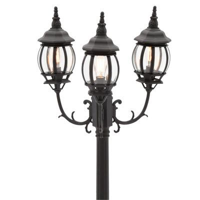 Home Decorators Collection Brimfield 3 Head Aged Iron Outdoor Post Light Hb7019a 292 Outdoor Post Lights Lantern Post Outdoor Lighting