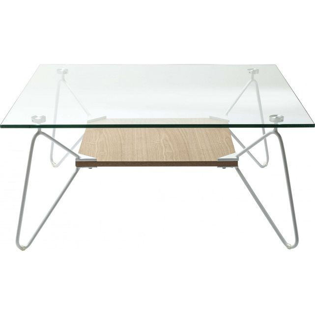 Table Basse Carree Slope Triangle 80x80cm Kare Design Table Basse Carree Table Basse Verre Table Basse