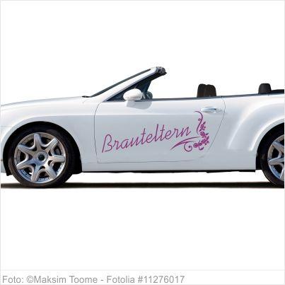 Autoaufkleber Hochzeit - Brauteltern mit Ornament