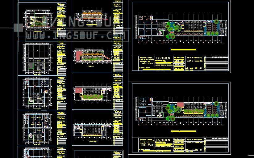 مجموعة مخططات معمارية مطاعم وكافيهات اوتوكاد Dwg مجموعة مخططات معمارية مطاعم وكافيهات اوتوكاد Dwg مجموعة Duplex House Plans Autocad Duplex House