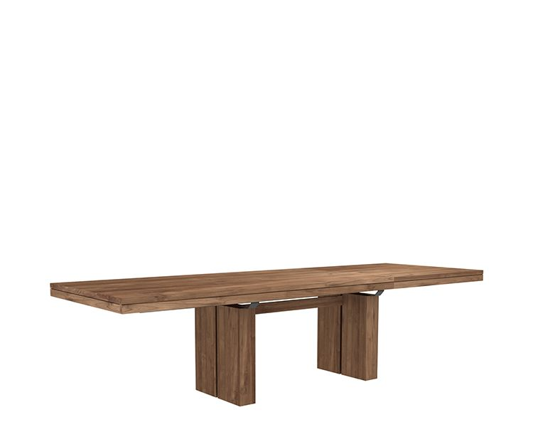 Ethnicraft© - Products » Dining Tables »Teak Double extendable ...