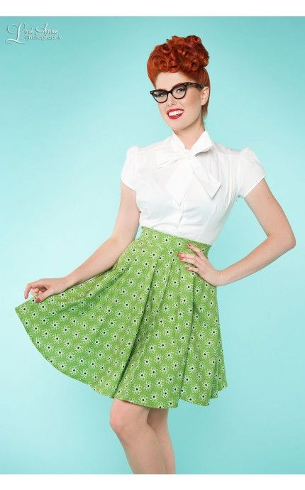 Circle Skirt in Chemistry Green