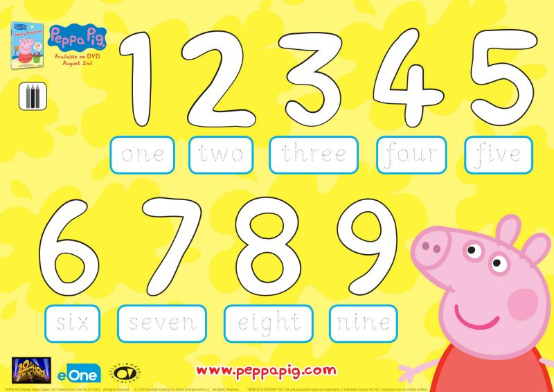 Peppa Pig Alphabet Coloring Pages Designs Collections