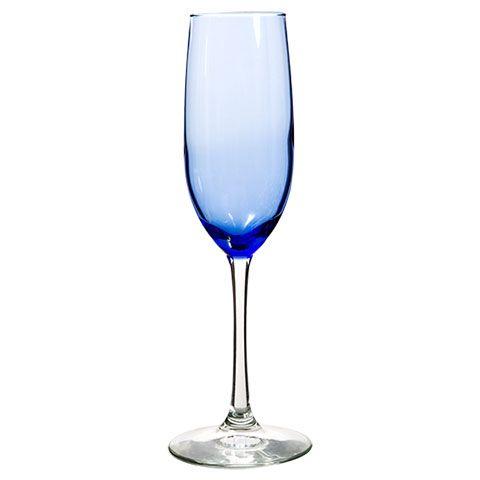 Bulk Brand Name Blue Tinted Glass Champagne Flutes 8 Oz At Dollartree Com Glass Champagne Flutes Cobalt Blue Wine Glasses Glass