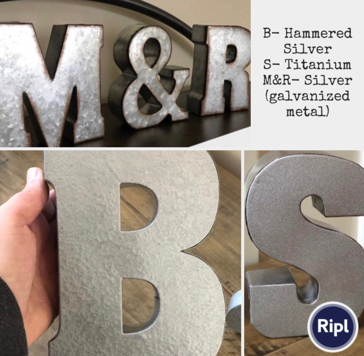 Large Metal Letter A Z Metal Letters 7 Inch Letter You Pick