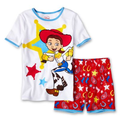 320f87ec77366 Disney Jessie Short Sleeve 2-Piece Cotton Pajama Set - JCPenney ...