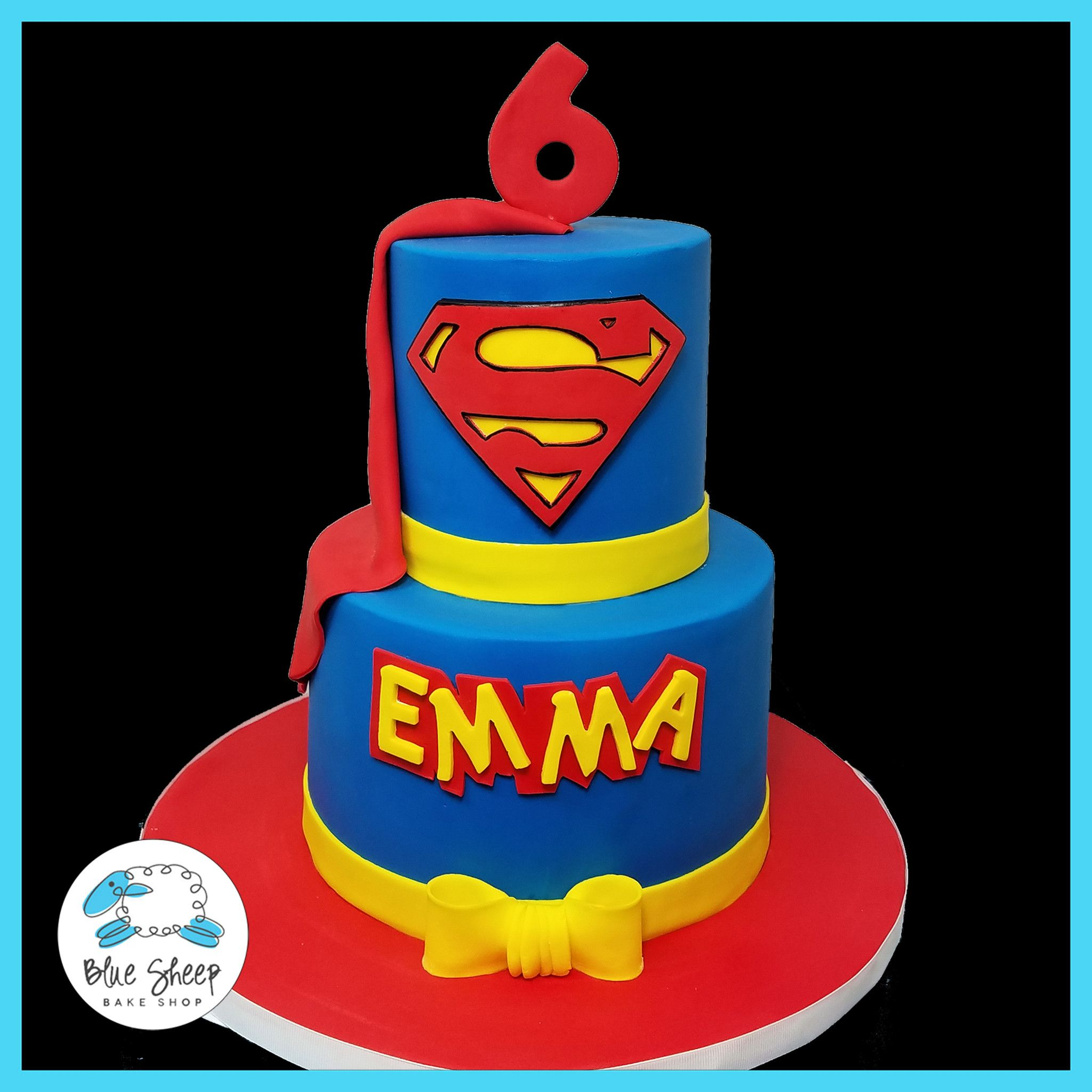 This Superman Themed Birthday Cake Features The Man Of Steels