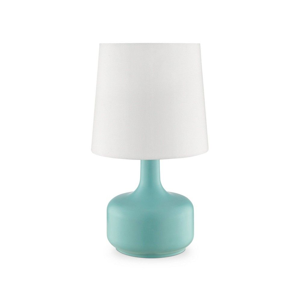 17 25 Modern Metal Table Lamp With Touch Sensor Green Ore International Touch Table Lamps Lamp Touch Lamp