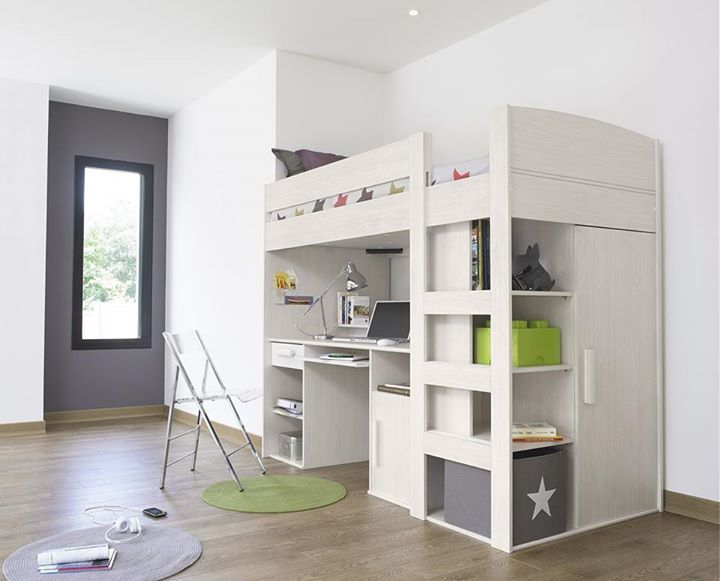 Check Out How Well This Loft Bed Fits Into The Narrow Nook In This