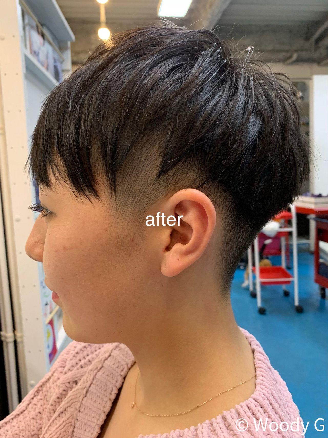 スポーツ ベリーショート 刈り上げ 女子ウケ G Woody G 449879 Hair 刈り上げ女子 ベリーショート 刈り上げ ショート 刈り上げ