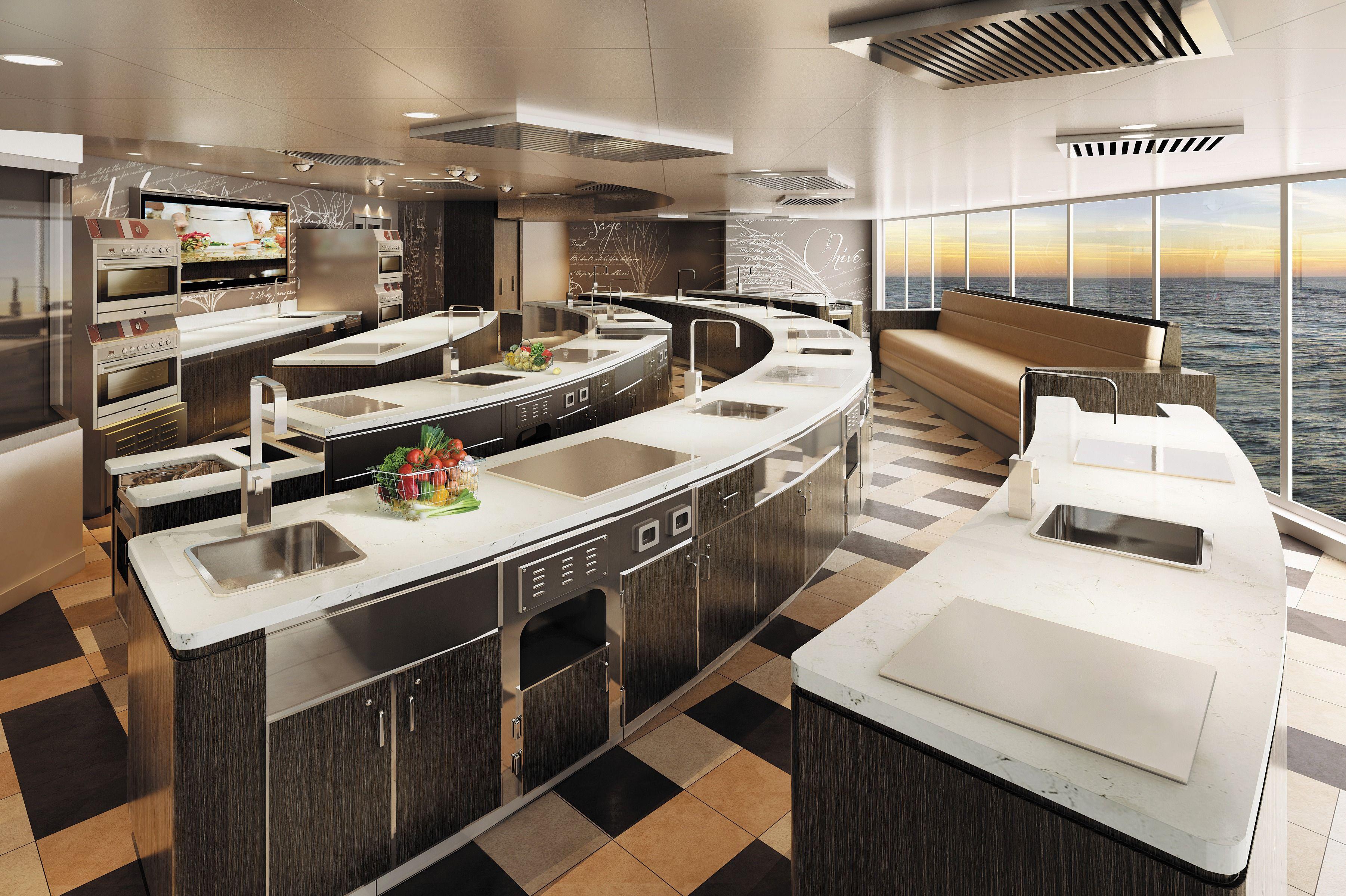 Regent Seven Seas Explorer Culinary Arts Kitchen