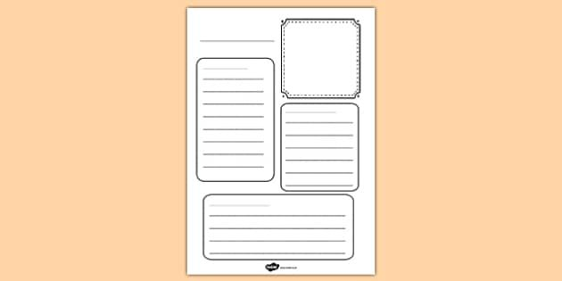 Image Result For Blank Fact Sheet Template  Homeschool