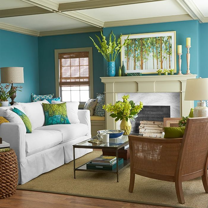 111 Wohnzimmer Streichen Ideen   Die Besten Nuancen Für Eine Moderne  Farbgestaltung