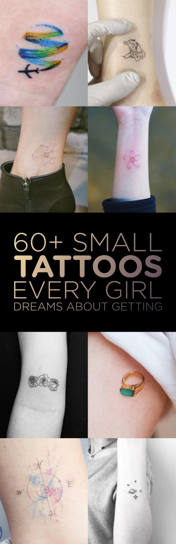 60 Small Tattoos Every Girl Dreams About Getting Tattoos On