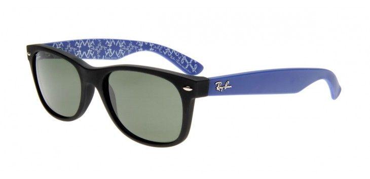 Óculos de Sol Ray-Ban New Wayfarer Preto e Azul RB2132LL   fashion ... b6dbe49d1d85