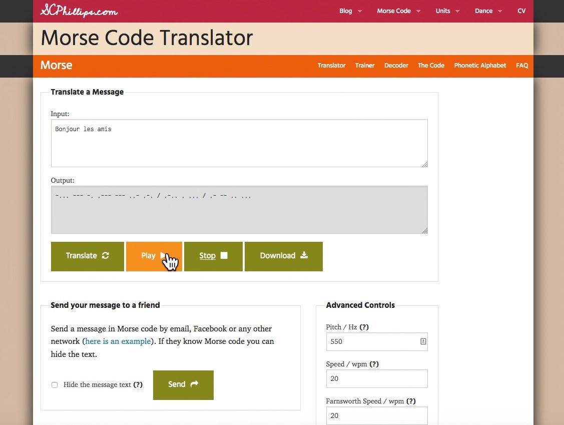 Morse Code Type A Text And This Software Will Give You