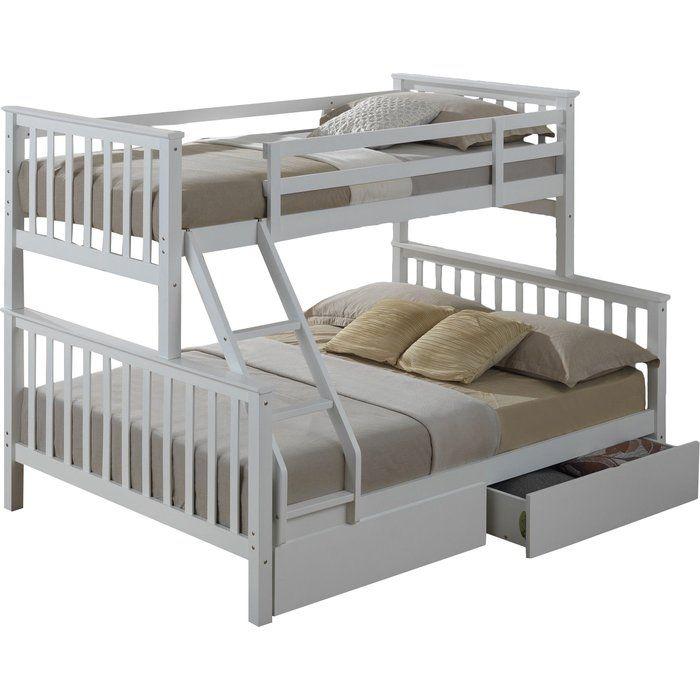 Home Loft Concept Mara Triple Sleeper Bunk Bed With Storage Beach