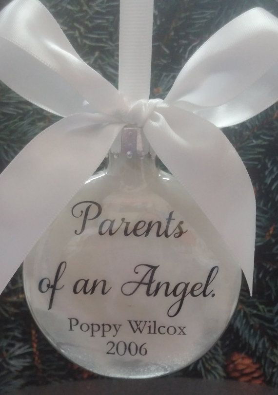 Infant Loss Memorial Ornament Personalized by ShopCreativeCanvas