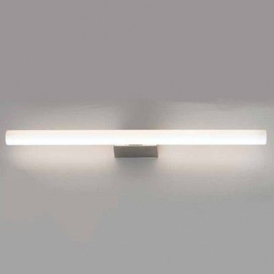 Linestra Led linox diffuse light wall luminaire with fluorescent linestra bulb