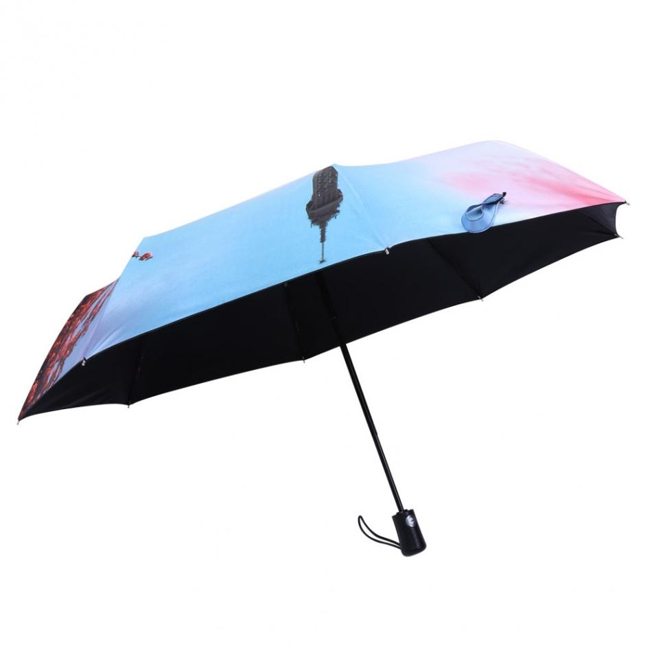 13.21$  Buy here - http://alisjo.shopchina.info/go.php?t=32810574653 - Anti-uv Sun Protection 3 Folding Automatic Umbrella Towel Painting Rain Tool for Man/Women  #buyininternet