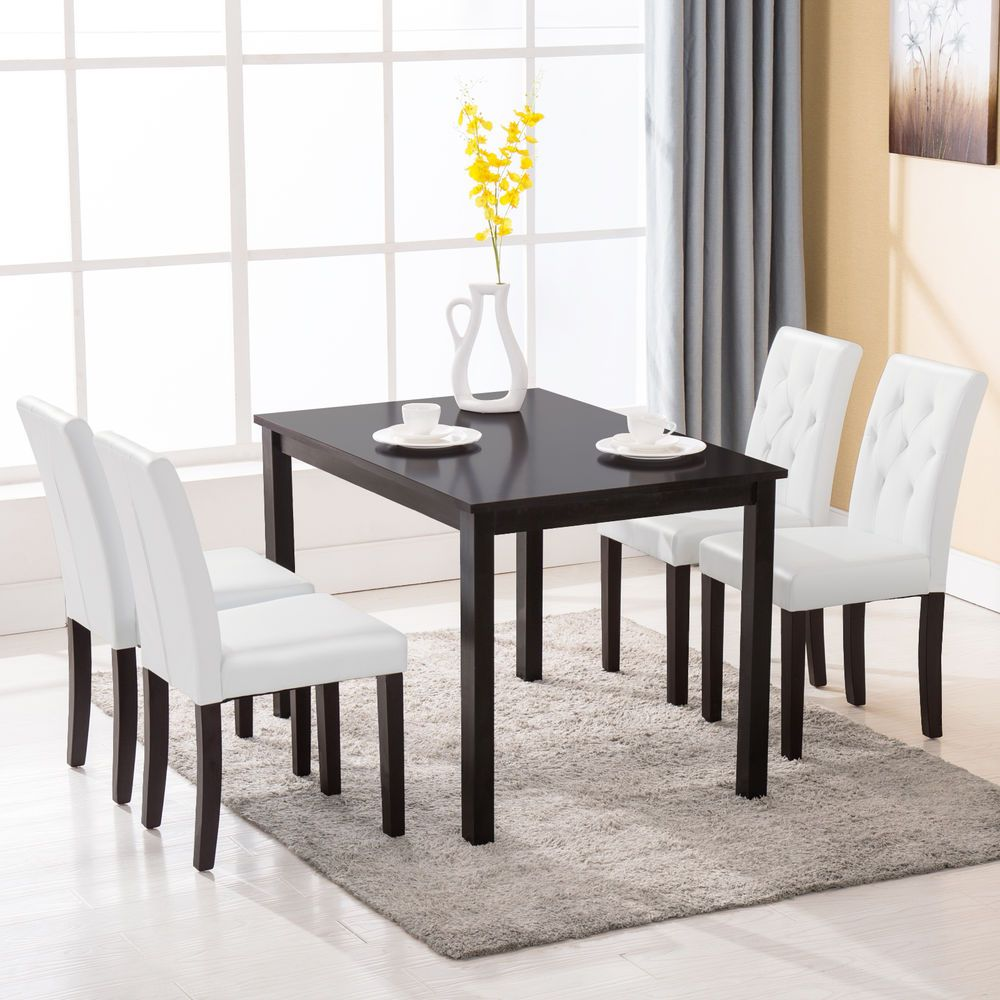 kitchen dinette unfinished oak cabinets home depot 5 piece dining table set 4 chairs room breakfast wood furniture garden sets ebay