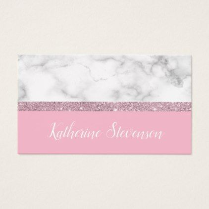 Elegant Girly Rose Gold Glitter White Marble Pink Business Card Zazzle Com In 2021 Pink Business Card Business Card Pattern Business Card Minimalist