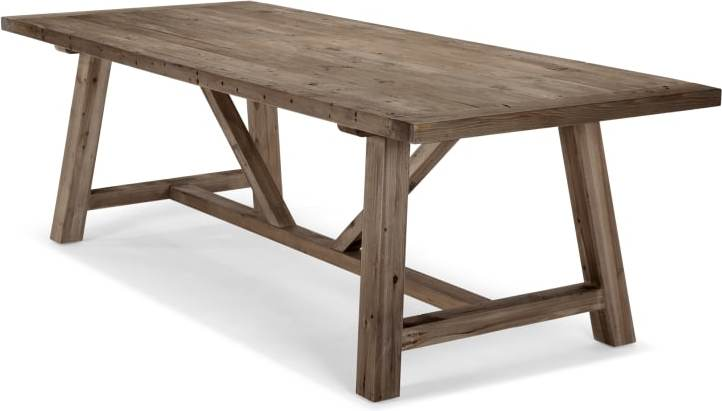 Iona 10 Seat Dining Table Solid Pine In 2020 Light Wood Dining