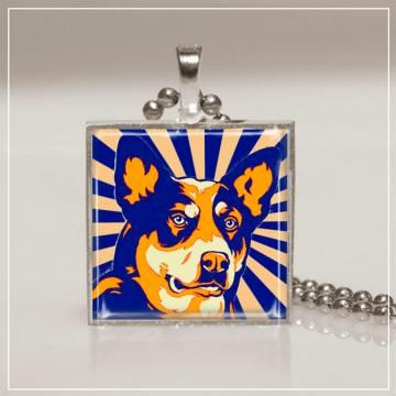 Dog Necklace Australian Cattle DogFREE SHIPPING! by riverwolfeartjewelry for $12.00