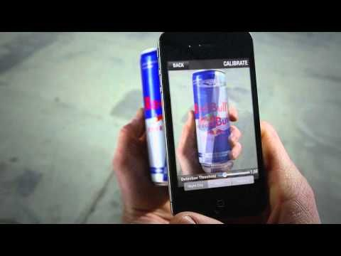 Red Bull. Make your own track with Red Bull cans, scan them then race around them in AR