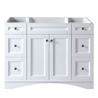 Bon Virtu USA Elise 48 Inch White Single Sink Cabinet Only Bathroom Vanity  (Elise 48 Inch White CAB Only), Size Single Vanities