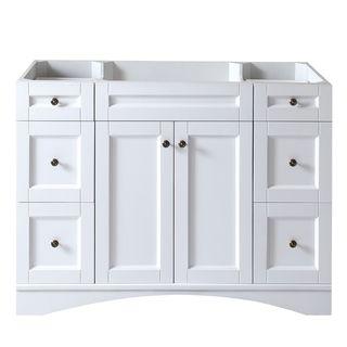 Bon Virtu USA Elise 48 Inch White Single Sink Cabinet Only Bathroom Vanity  (Elise 48 Inch White CAB Only), Size Single Vanities