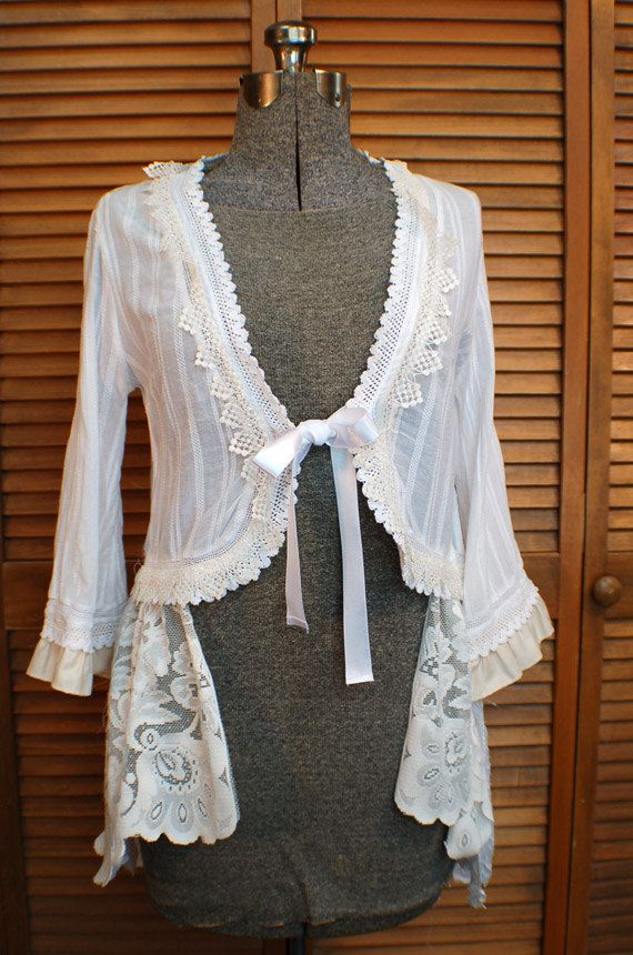 Upcycled Duster Jacket OOAK Gypsy Boho Hippie by LilithPearl
