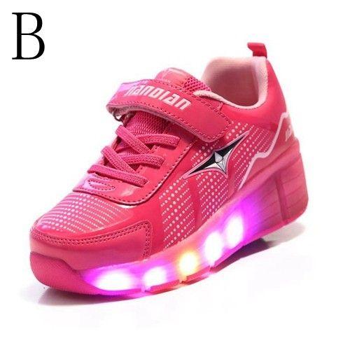Schuhe Die Rollen & Leuchten Rosa Mädchen | Leuchtende