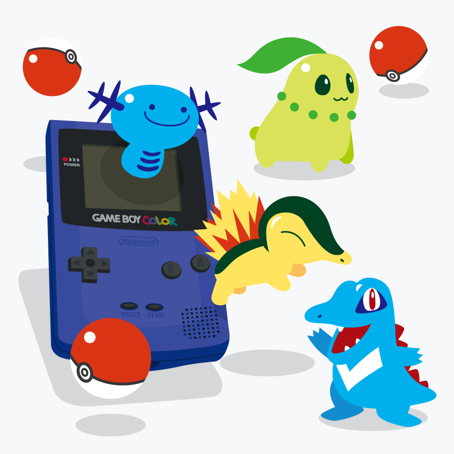 Pokémon, Game Boy Color artwork by Eruaru.
