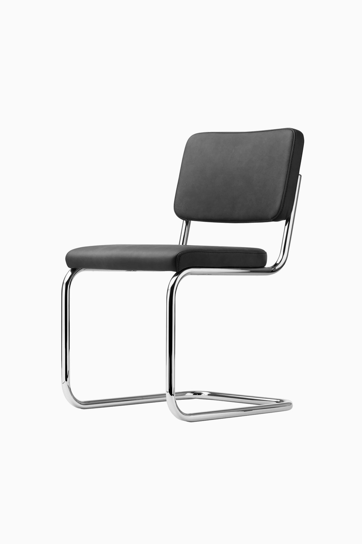 Thonet S 32 V Chair Chrome Black Stained Beech Tp 17