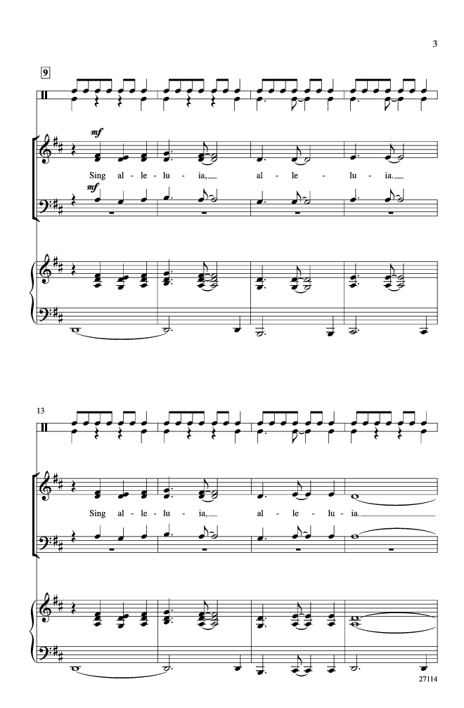 African Alleluia (SATB ) by Jay Althouse| J.W. Pepper Sheet Music ...