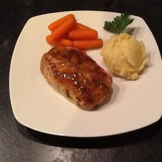 Maple Mustard Glazed Pork Loin Chops