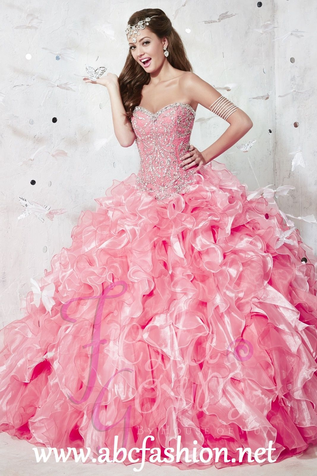 Pink dress in store  Call us at  House of Wu Fiesta Quinceanera Dresses and
