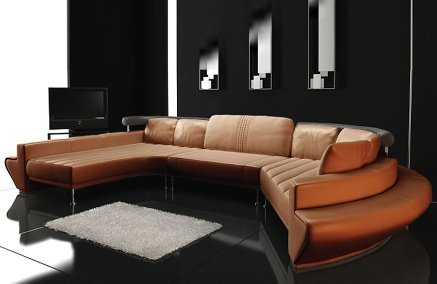 Ultra Modern Leather Sectional Sofa Set Tos Lf 2056 Modern Sofa