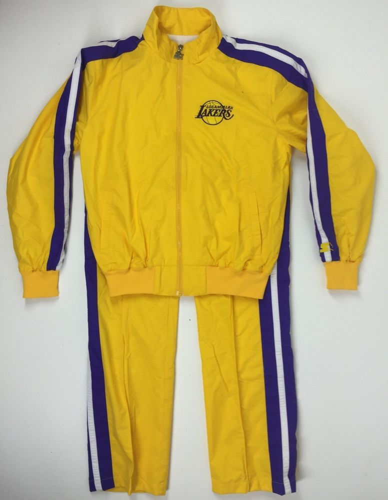 c480d4735bf5 NEW Los Angeles LAKERS Starter Warm-Up Suit Medium Jacket   Pants  Starter   LosAngelesLakers DANS THREADS ~ DON T MISS OUT! SOLD!