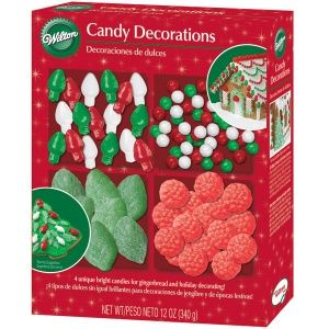 Wilton Gingerbread House Candy Assortment, Red & Green