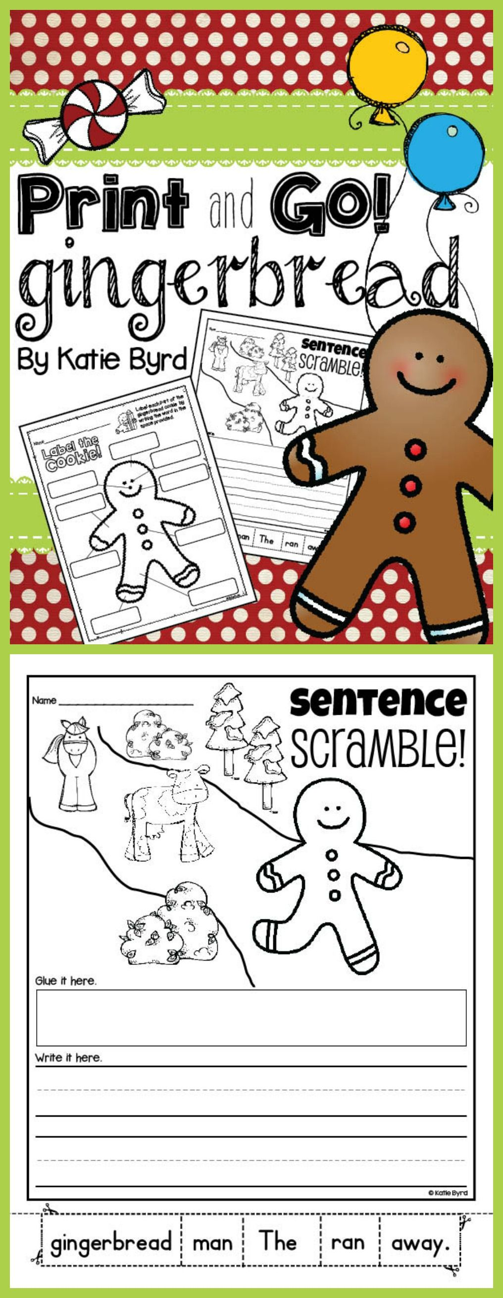 Are You Doing A Gingerbread Unit With Your Class These Practice Pages Are Perfe Gingerbread Man Kindergarten Gingerbread Activities Gingerbread Man Activities [ 2619 x 1016 Pixel ]