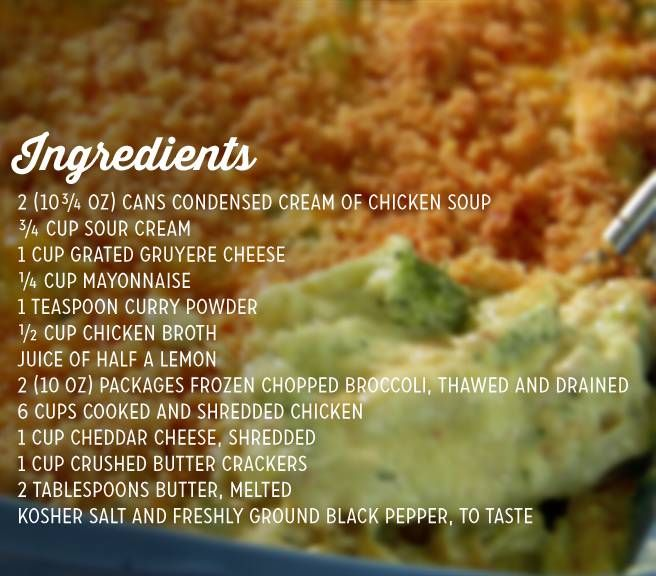 Paula S Chicken Divan Recipe Get In My Tummy Pinterest
