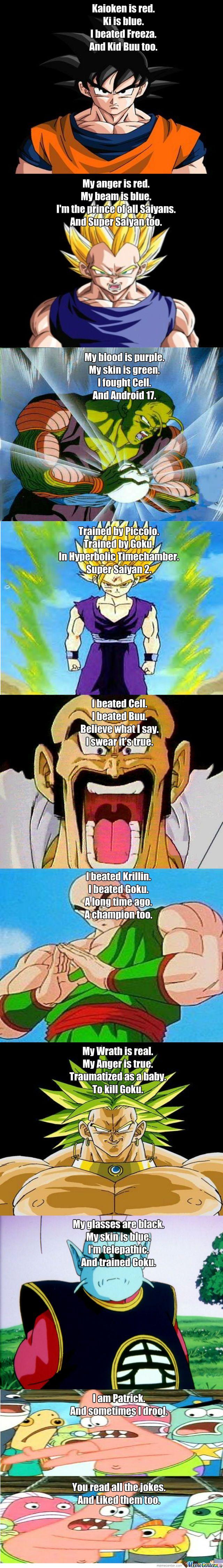 Funny Dragon Ball Z Memes : Funny dbz poems meme center makeup love pinterest