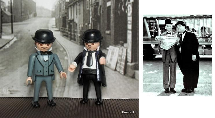 Laurel and Hardy. Playmobil